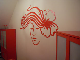 finition d co d interieur dessin sur mur chambre. Black Bedroom Furniture Sets. Home Design Ideas